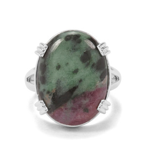 15.12ct Ruby-Zoisite Sterling Silver Ring
