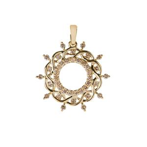 1/2ct Argyle Diamond 9K Gold Pendant