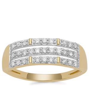 Argyle Diamond Ring in 9K Gold 0.34ct