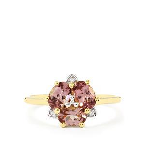 Mahenge Purple Spinel & Diamond 9K Gold Ring ATGW 1.44cts