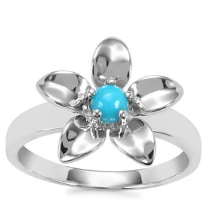 Sleeping Beauty Turquoise Ring in Sterling Silver 0.30cts