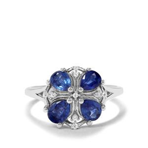 Nilamani & White Zircon Sterling Silver Ring ATGW 1.67cts