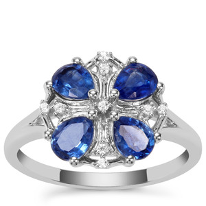 Nilamani Ring with White Zircon in Sterling Silver 1.67cts