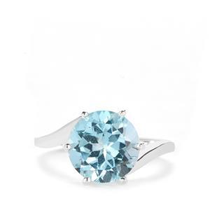 4.40ct Sky Blue Topaz Sterling Silver Ring