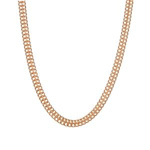 """18"""" Gold Tone Sterling Silver Altro Double Curb Necklace 17.00g"""