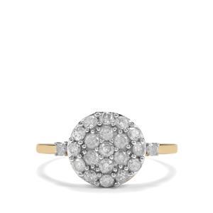 3/4ct Diamond 9K Gold Diamantaire Ring
