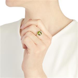Green Tourmaline & Diamond 14k White Gold Tomas Rae Ring ATGW 2.38cts
