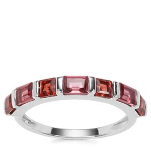 Rajasthan Garnet Ring with Nampula Garnet in Sterling Silver 1.66cts
