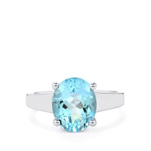 Sky Blue Topaz Ring in Sterling Silver 4.28cts