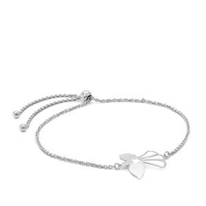 """10"""" Sterling Silver Remembrance Angel Slider Bracelet 2.33g"""