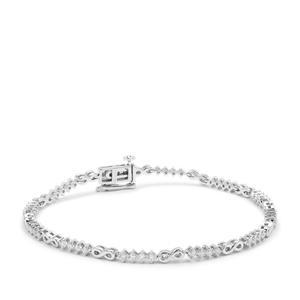 Diamond Bracelet in Platinum 950 1cts