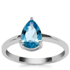 Swiss Blue Topaz Ring in Sterling Silver 1.43cts