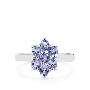 Tanzanite Ring in Sterling Silver 1.06cts