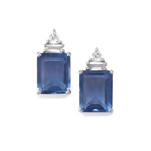 Baiyang Colour Change Fluorite & White Topaz Sterling Silver Earrings ATGW 8.79cts