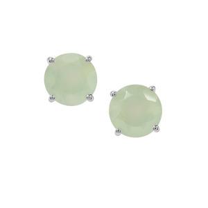 4.09ct Prehnite Sterling Silver Earrings