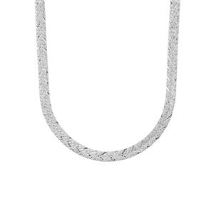 """18"""" Sterling Silver Dettaglio Herringbone Chain 4.48g"""