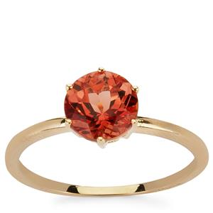 1.28ct Red Labradorite 9K Gold Ring