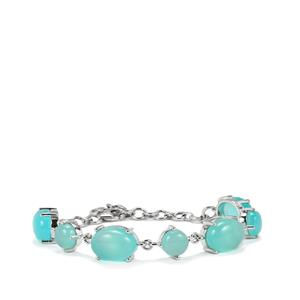 Aqua Chalcedony Bracelet in Sterling Silver 29.85cts