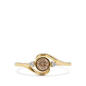 1/4ct Natural Coloured & White Diamond 18K Gold Tomas Rae Ring