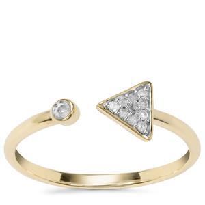Diamond Ring in 9K Gold 0.06ct