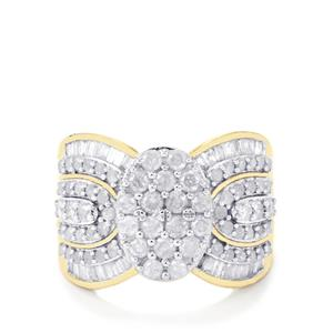 Diamond Ring  in 10k Gold 1.50cts