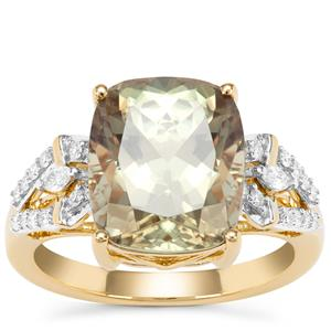 Csarite® Ring with Diamond in 18K Gold 6.42cts