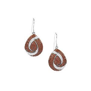 Anthill Garnet Earrings in Sterling Silver 2.04cts