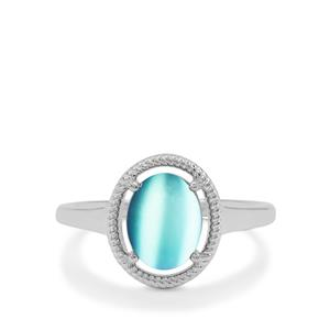 Blue Moonstone Ring in Sterling Silver 2.20cts