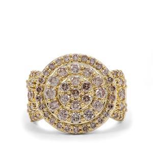 2ct Champagne Argyle Diamond 9K Gold Ring
