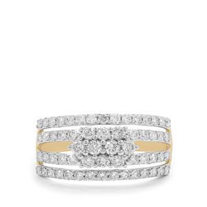 1ct Argyle Diamond 9K Gold Ring