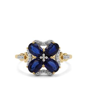 Nilamani Ring with White Zircon in 9K Gold 2.75cts