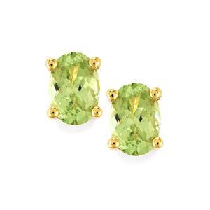 Merelani Mint Garnet Earrings  in 10k Gold 1.35cts