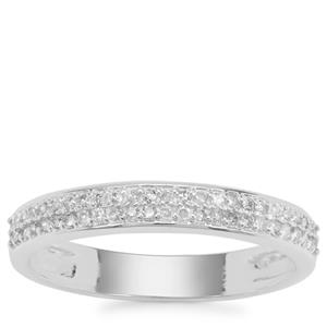 Diamond Ring in Sterling Silver 0.23ct