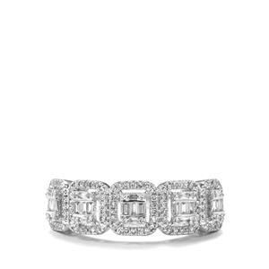 1/2ct Diamond 18K White Gold Tomas Rae Ring