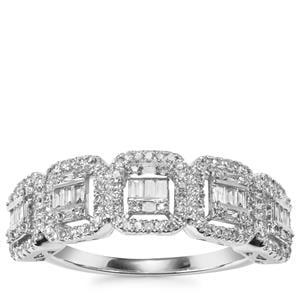 Diamond Ring in 18K White Gold 0.50ct