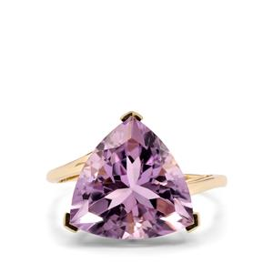 6ct Rose De France Amethyst 9K Gold Ring