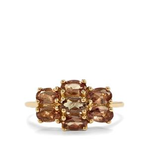2.16ct Tsivory Colour Change Garnet 9K Gold Ring