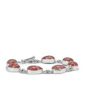 Rhodochrosite Bracelet in Sterling Silver 43.75cts