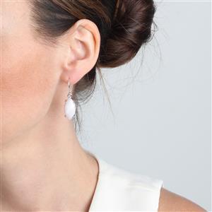 Pink Aragonite Earrings in Sterling Silver 16cts