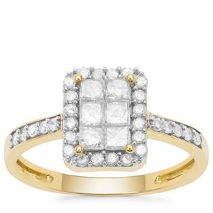 Diamond Ring in 9K Gold 0.75ct