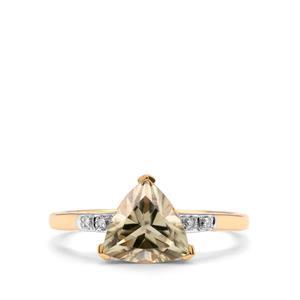 Csarite® & Diamond 18K Gold Tomas Rae Ring MTGW 1.92cts