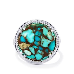 10.10ct Egyptian Turquoise Sterling Silver Ring