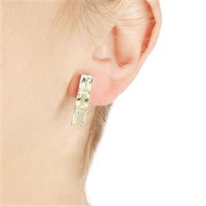 6.74ct Canary Kunzite Sterling Silver Earrings