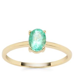Colombian Emerald Ring in 9K Gold 0.70ct