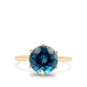 4.73ct Marambaia London Blue Topaz 9K Gold Ring