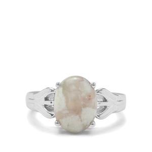 4.09ct Aquaprase™ Sterling Silver Ring