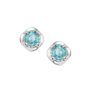 Ratanakiri Blue Zircon Earrings in Sterling Silver 0.77ct
