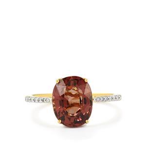 Colour Change Garnet & Diamond 18K Gold Lorique Ring MTGW 4.25cts