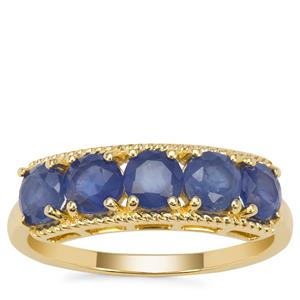 Burmese Blue Sapphire Ring in 9K Gold 1.81cts