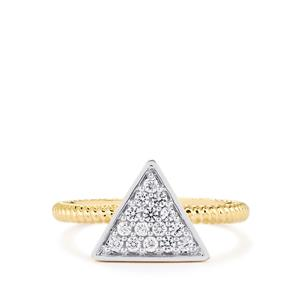 0.32ct Ratanakiri White Zircon 9K Gold Ring